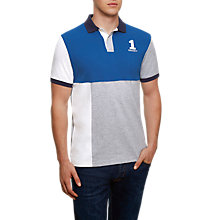 Buy Hackett London New Classic Colour Block Polo Shirt, Blue/Grey Online at johnlewis.com