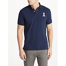 Buy Hackett London New Classic Colour Block Polo Shirt, Navy Online at johnlewis.com
