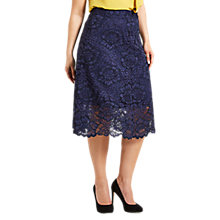 Buy Celuu Alison Floral Skirt, Navy Online at johnlewis.com