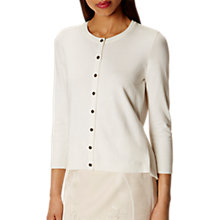 Buy Karen Millen Pleat Back Cardigan, Ivory Online at johnlewis.com