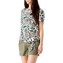 Buy Sugarhill Boutique Zia Tropical Print Tie Top, Cream/Multi Online at johnlewis.com