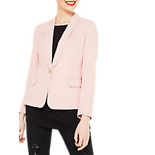 Buy Miss Selfridge One Button Blazer, Mink Online at johnlewis.com