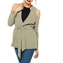 Buy Miss Selfridge Cold Shoulder Blazer, Khaki Online at johnlewis.com