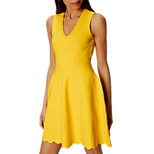 Buy Karen Millen Jacquard Fit And Flare Dress, Yellow Online at johnlewis.com