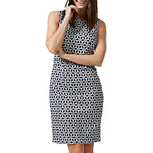 Buy Sugarhill Boutique Geo Print Pleated Shift Dress, Navy/White Online at johnlewis.com