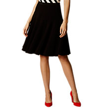 Buy Karen Millen Fluid Tailoring Skirt, Black Online at johnlewis.com