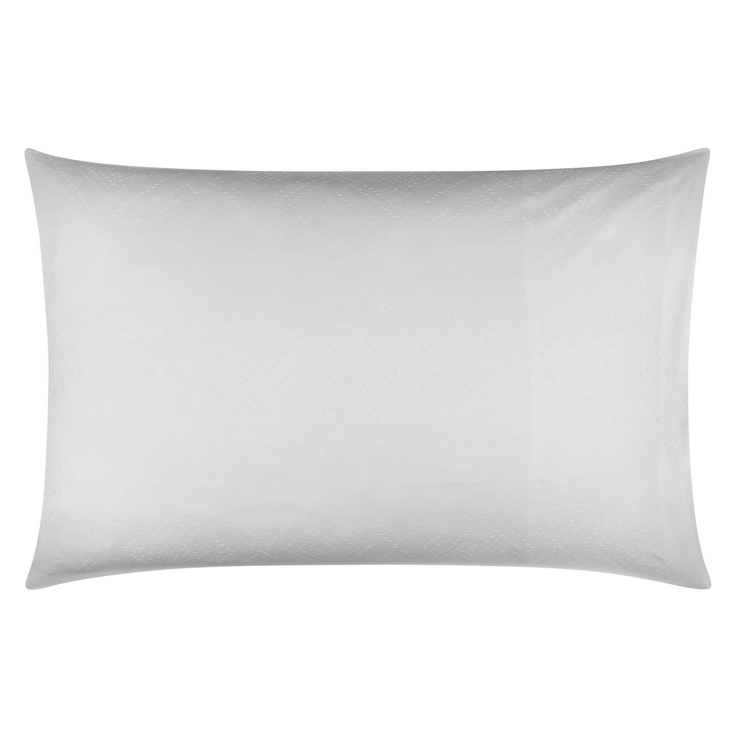 BuyJohn Lewis Hamilton Jacquard 1000 Thread Count Cotton Standard Pillowcase, White Online at johnlewis.com