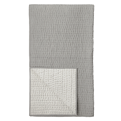 John Lewis Herringbone Stitch Quilted Cotton Bedspread