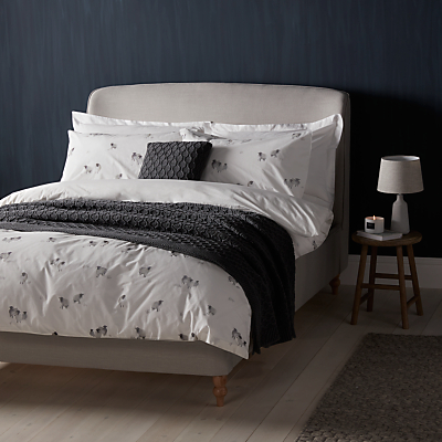 John Lewis Highland Sheep Print Cotton Duvet Cover and Pillowcase Set