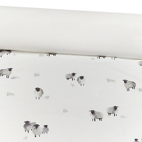 Buy John Lewis Highland Sheep Print Cotton Duvet Cover and Pillowcase Set Online at johnlewis.com