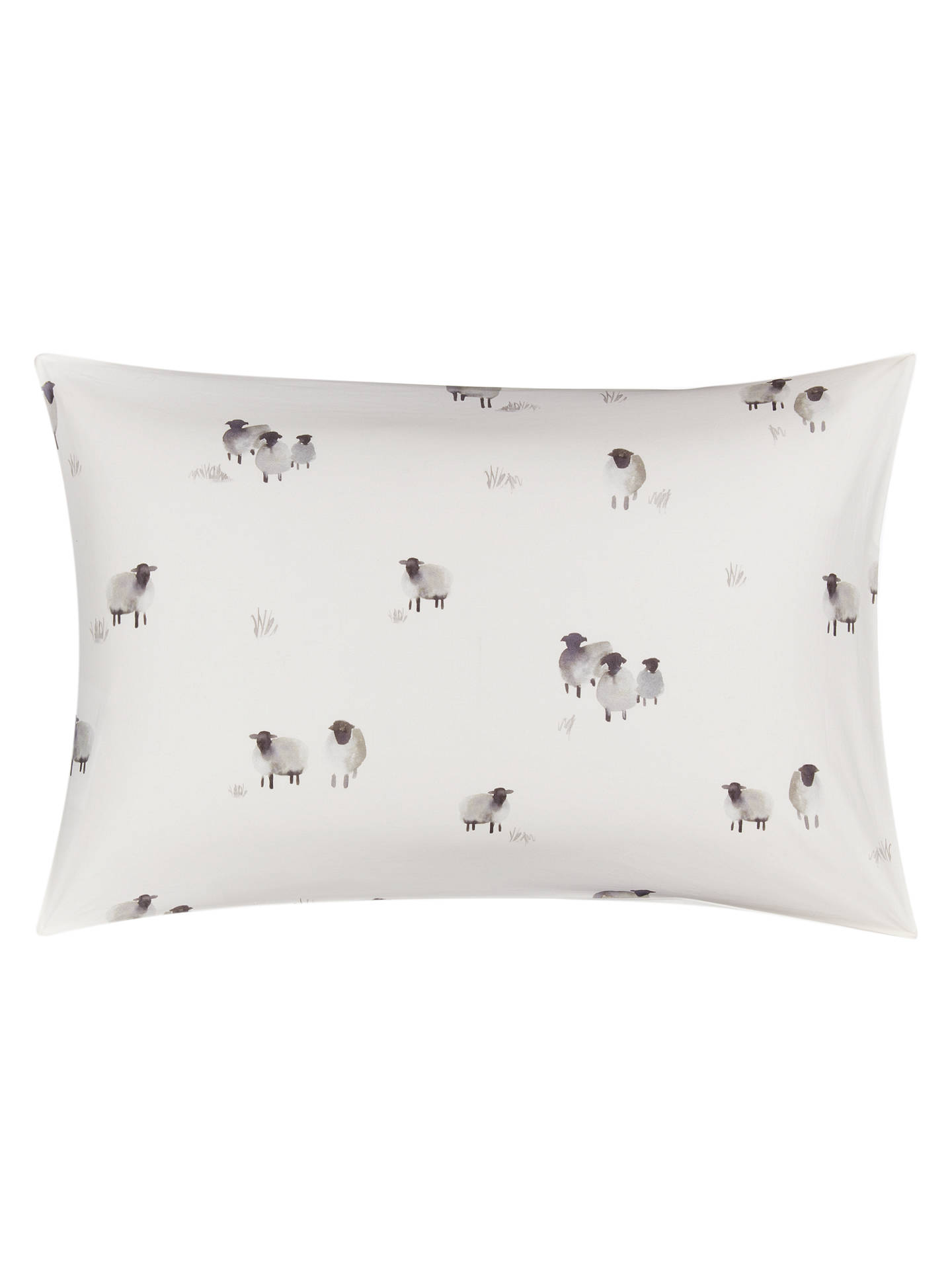 BuyJohn Lewis & Partners Crisp and Fresh Highland Sheep Print Cotton Duvet Cover and Pillowcase Set, Single Online at johnlewis.com