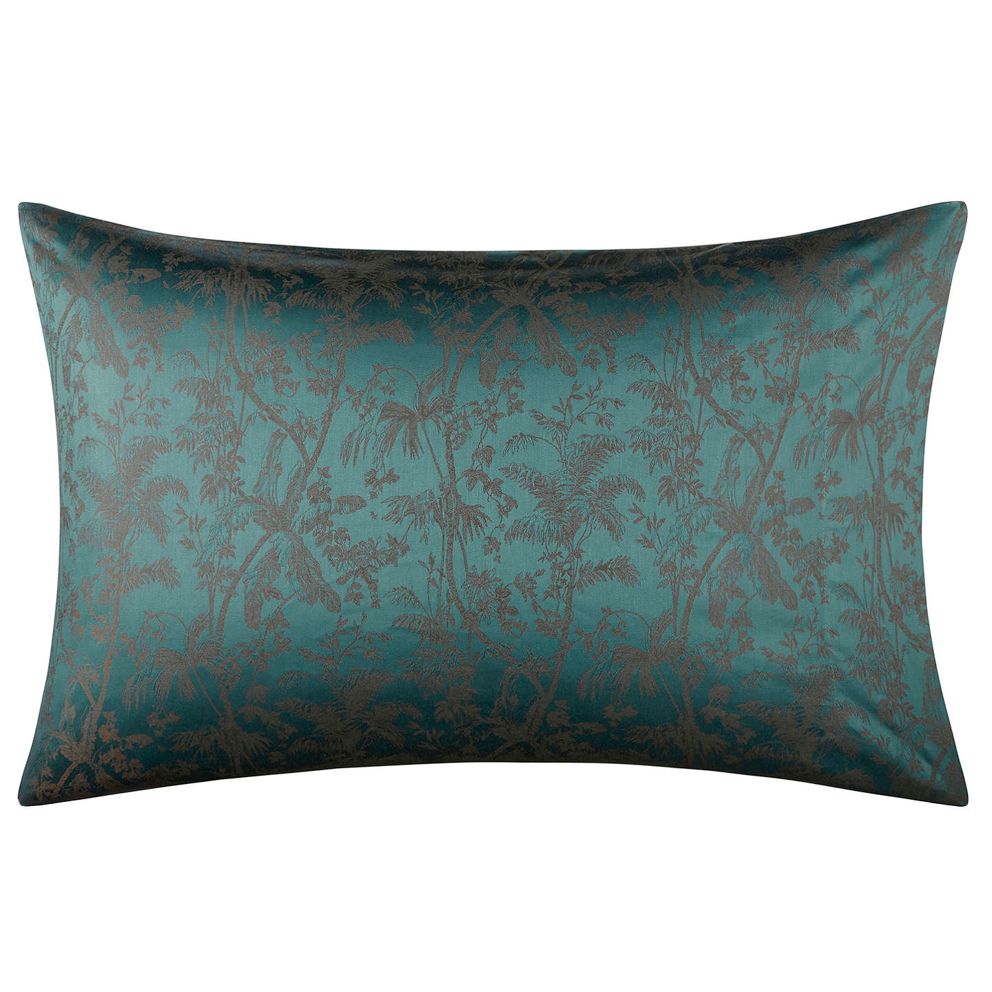 BuyJohn Lewis Hotel Chinoiserie Cotton Duvet Cover, Single, Green Online at johnlewis.com