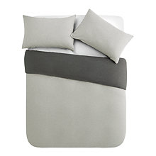 Buy House by John Lewis Two Tone Cotton Jersey Duvet Cover and Pillowcase Set Online at johnlewis.com