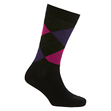 Buy John Lewis Made in Italy Egyptian Cotton Argyle Dot Socks, Pack of 2 Online at johnlewis.com