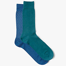 Buy John Lewis Weave Socks, Pack of 2, Multi Online at johnlewis.com