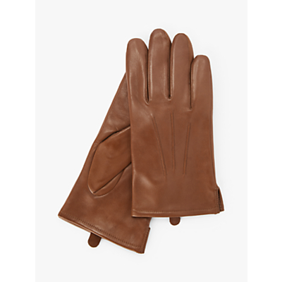 John Lewis Fleece Lined Leather Gloves