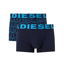 Buy Diesel Logo Trunks, Pack of 2, Navy Online at johnlewis.com