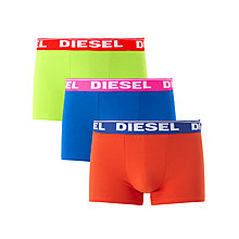 Buy Diesel Shawn Two Colour Boxer Trunks, Pack of 3, Yellow/Blue/Orange Online at johnlewis.com
