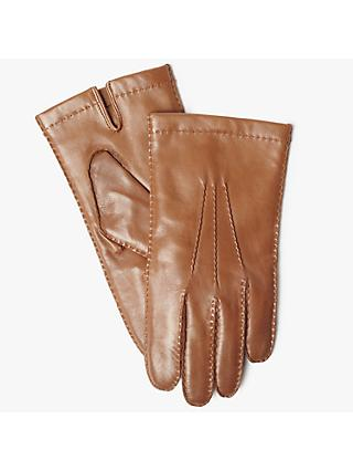 John Lewis & Partners Wool Lined Handsewn Leather Gloves