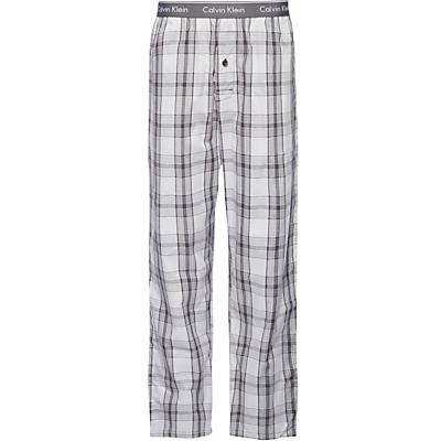 Calvin Klein Rossa Cotton Check Lounge Pants, Grey