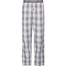 Buy Calvin Klein Rossa Cotton Check Lounge Pants, Grey Online at johnlewis.com