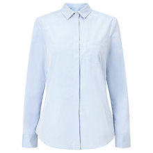 Buy Weekend MaxMara Raggio Cotton Poplin Shirt, Light Blue Online at johnlewis.com