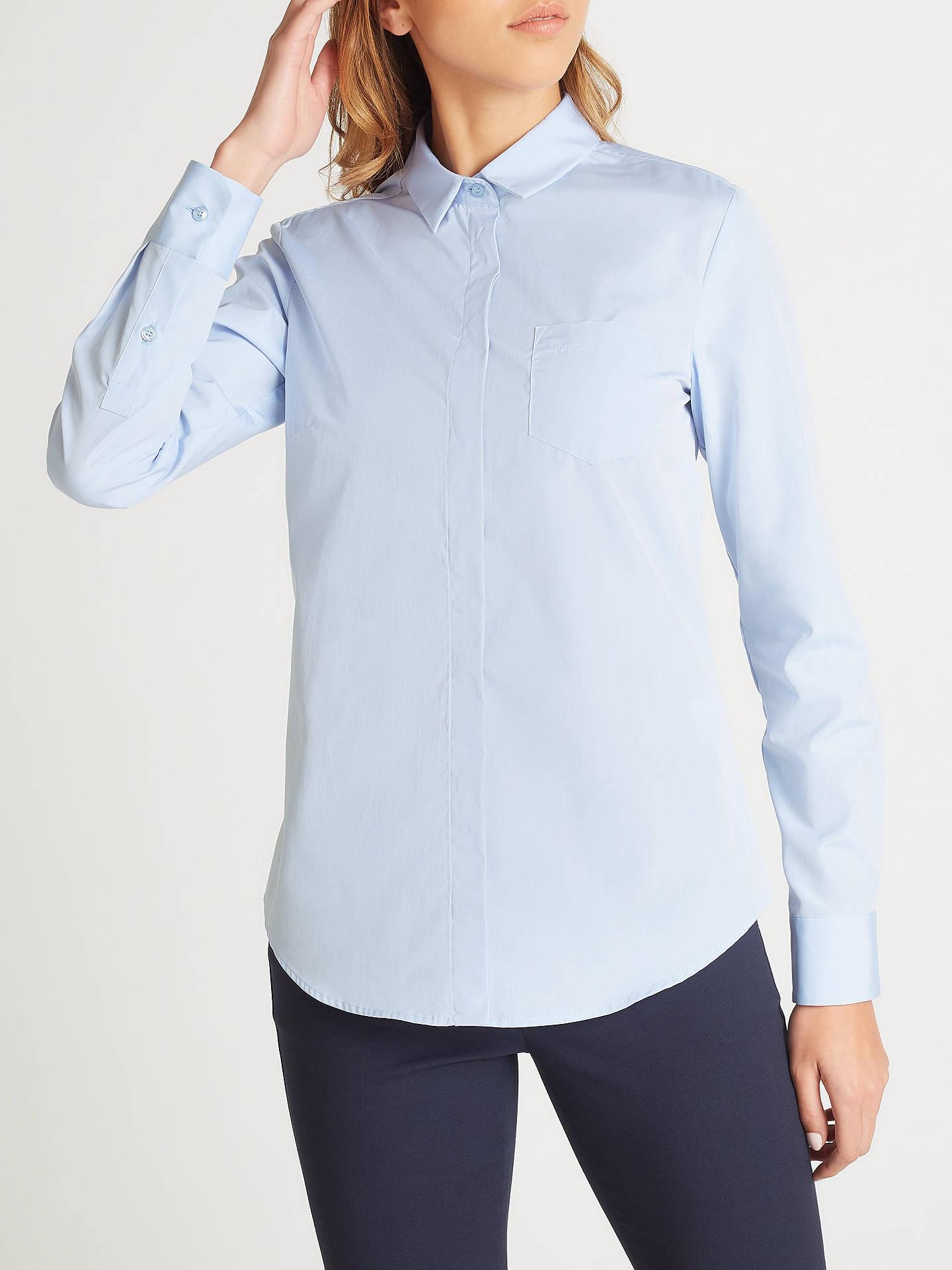 d2c15baa Buy Weekend MaxMara Raggio Cotton Poplin Shirt, Light Blue, 8 Online at  johnlewis.