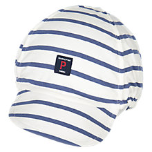 Buy Polarn O. Pyret Baby Striped Cap Hat, Blue Online at johnlewis.com
