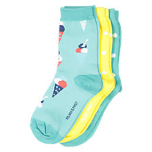 Buy Polarn O. Pyret Children's Dot Socks, Pack of 3, Green Online at johnlewis.com