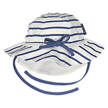 Buy Polarn O. Pyret Children's Striped Hat, White/Blue Online at johnlewis.com