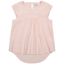 Buy Polarn O. Pyret Girls' Broderie T-Shirt Online at johnlewis.com