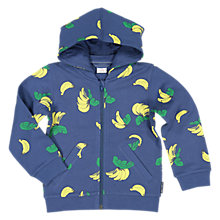 Buy Polarn O. Pyret Children's Banana Hoodie, Blue Online at johnlewis.com