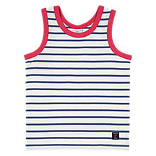 Buy Polarn O. Pyret Children's Striped Vest, Blue Online at johnlewis.com