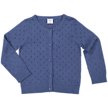 Buy Polarn O. Pyret Girls' Cardigan, Blue Online at johnlewis.com