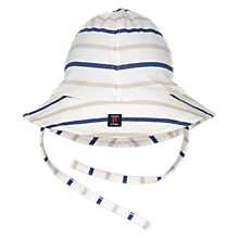 Buy Polarn O. Pyret Baby Striped Hat, Blue/White Online at johnlewis.com