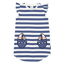 Buy Polarn O. Pyret Baby Striped Dress, Blue Online at johnlewis.com