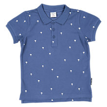 Buy Polarn O. Pyret Boys' Palm Polo Shirt, Blue Online at johnlewis.com