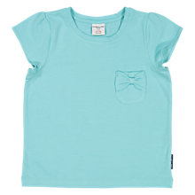 Buy Polarn O. Pyret Girls' Short Sleeve Bow T-Shirt Online at johnlewis.com
