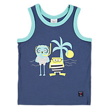 Buy Polarn O. Pyret Children's Printed Vest Top, Blue Online at johnlewis.com
