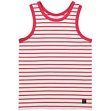 Buy Polarn O. Pyret Children's Striped Vest, Red Online at johnlewis.com