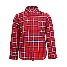 Buy Lyle & Scott Boys' Flannel Shirt, Red Online at johnlewis.com