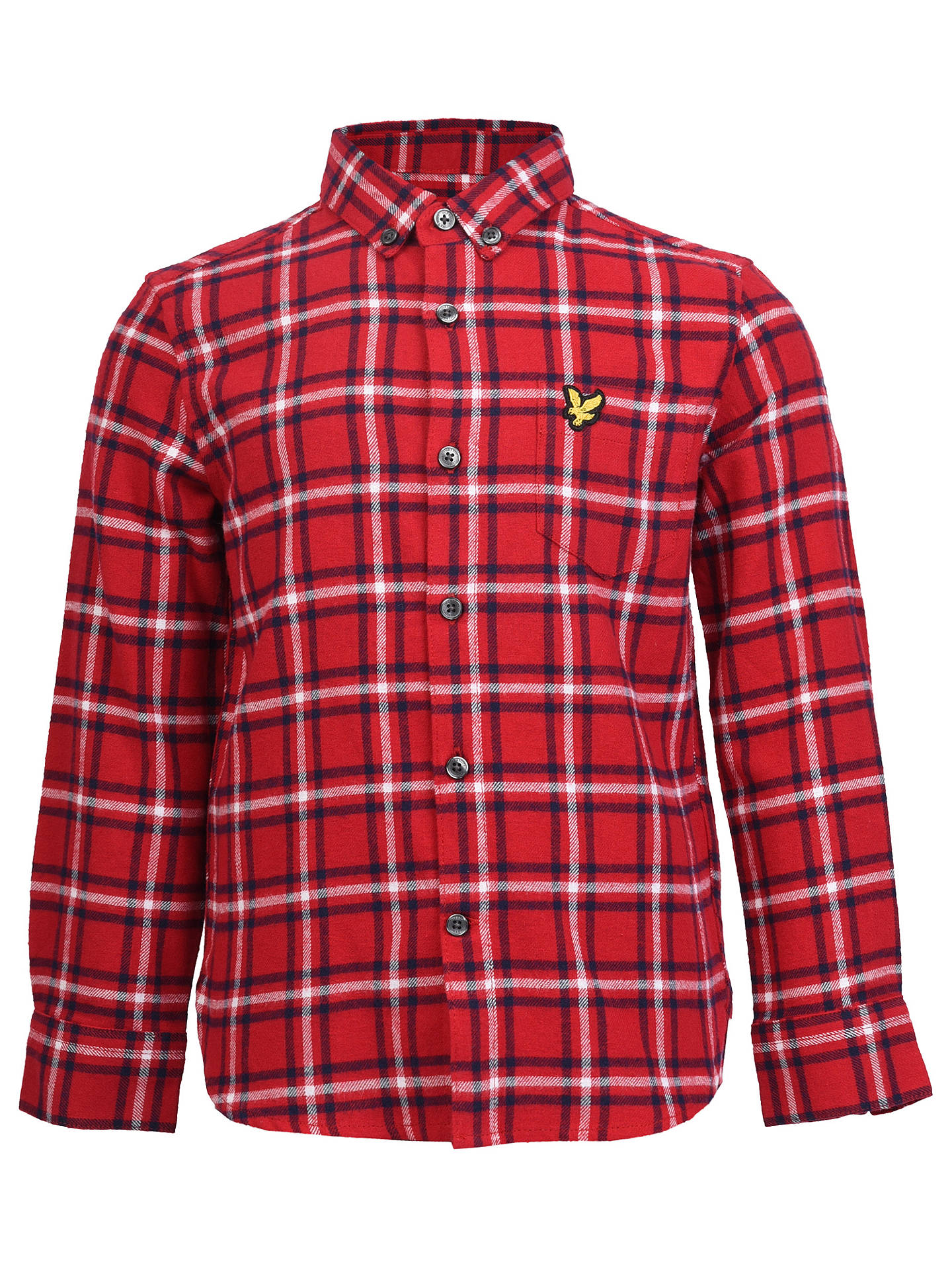 4bc58d22f Buy Lyle & Scott Boys' Flannel Shirt, Red, 8 years Online at johnlewis ...
