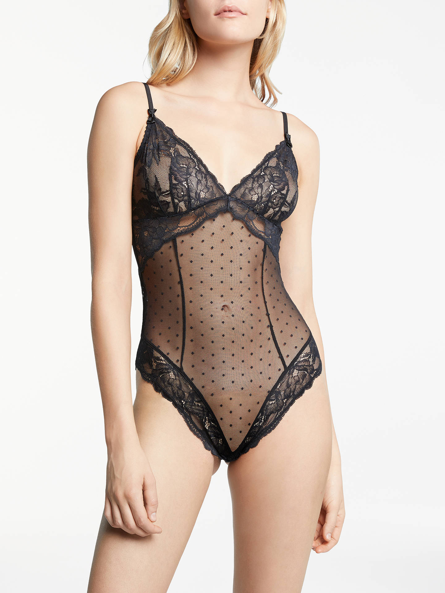 6808ed6621a AND/OR Arabella Lace Body, Black at John Lewis & Partners