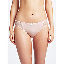 Buy John Lewis Sophia Lace Detail Briefs, Pink Marl Online at johnlewis.com