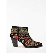 Buy AND/OR Tarsia Embellished Detail Ankle Boots, Black Online at johnlewis.com