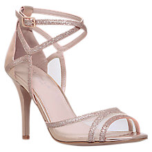 Buy Carvela Luxe Stiletto Heeled Sandals, Bronze Online at johnlewis.com