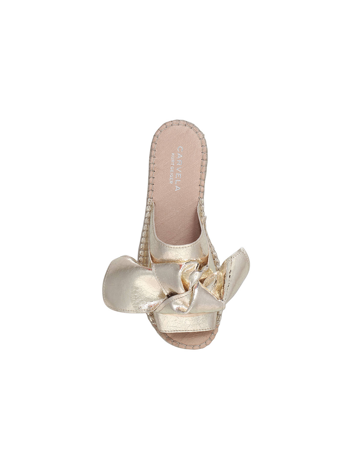 BuyCarvela Kurry Bow Slider Sandals, Gold, 3 Online at johnlewis.com