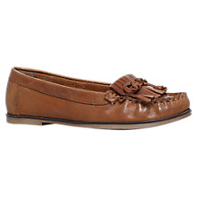 Buy Carvela Mock 2 Bow Detail Moccasins, Tan Online at johnlewis.com