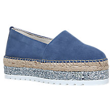 Buy Carvela Loan Flatform Espadrilles, Blue Online at johnlewis.com