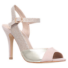 Buy Carvela Lou Peep Toe Stiletto Sandals, Nude Online at johnlewis.com
